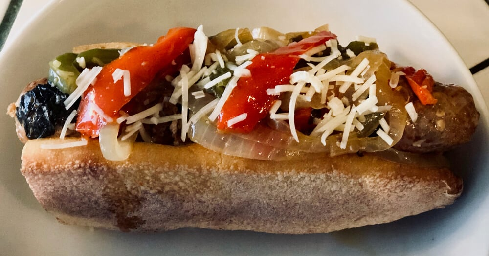 Hot Italian Sausage & Peppers Sandwiches