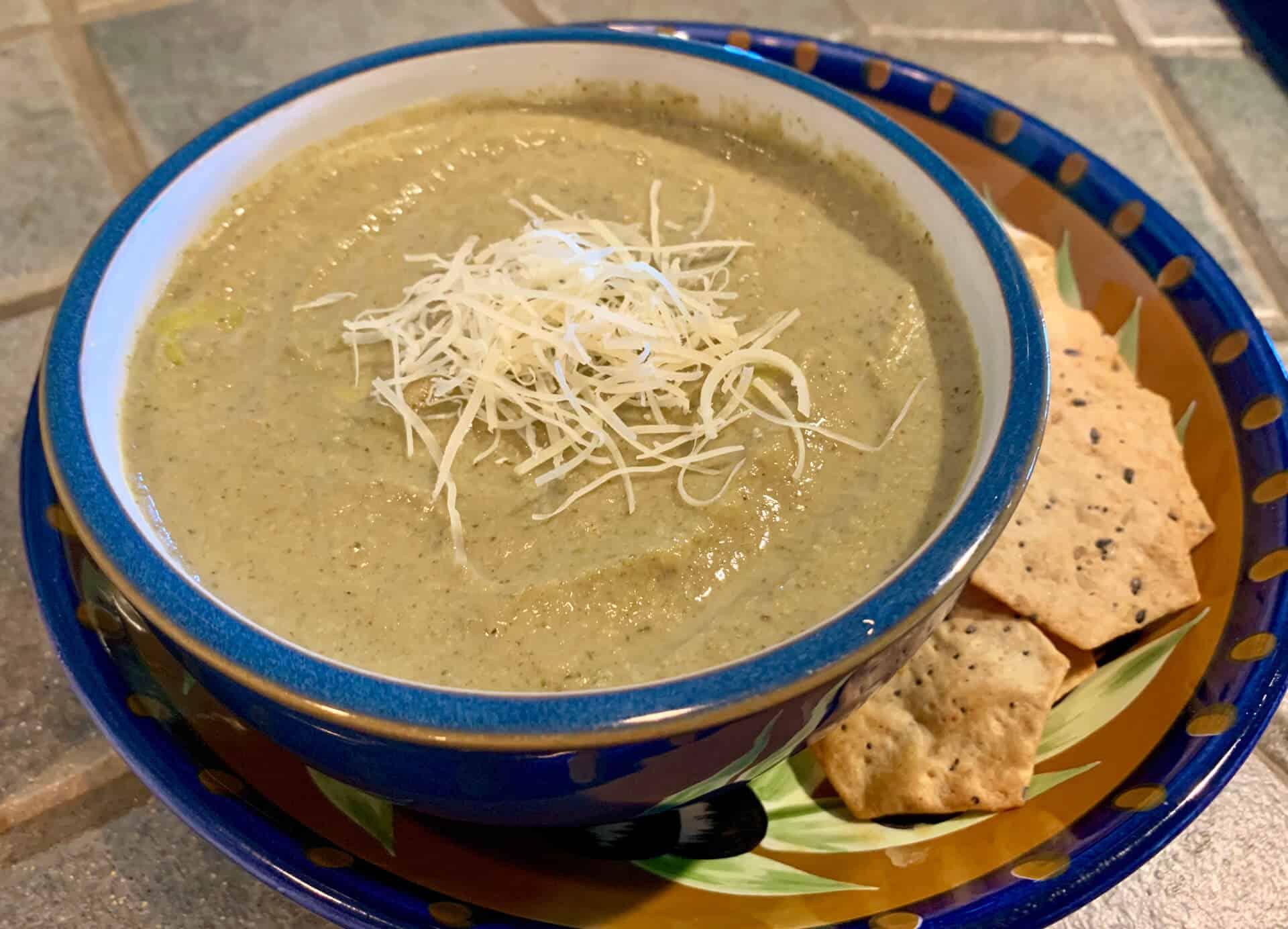 Cream Of Broccoli and Mushroom Soup