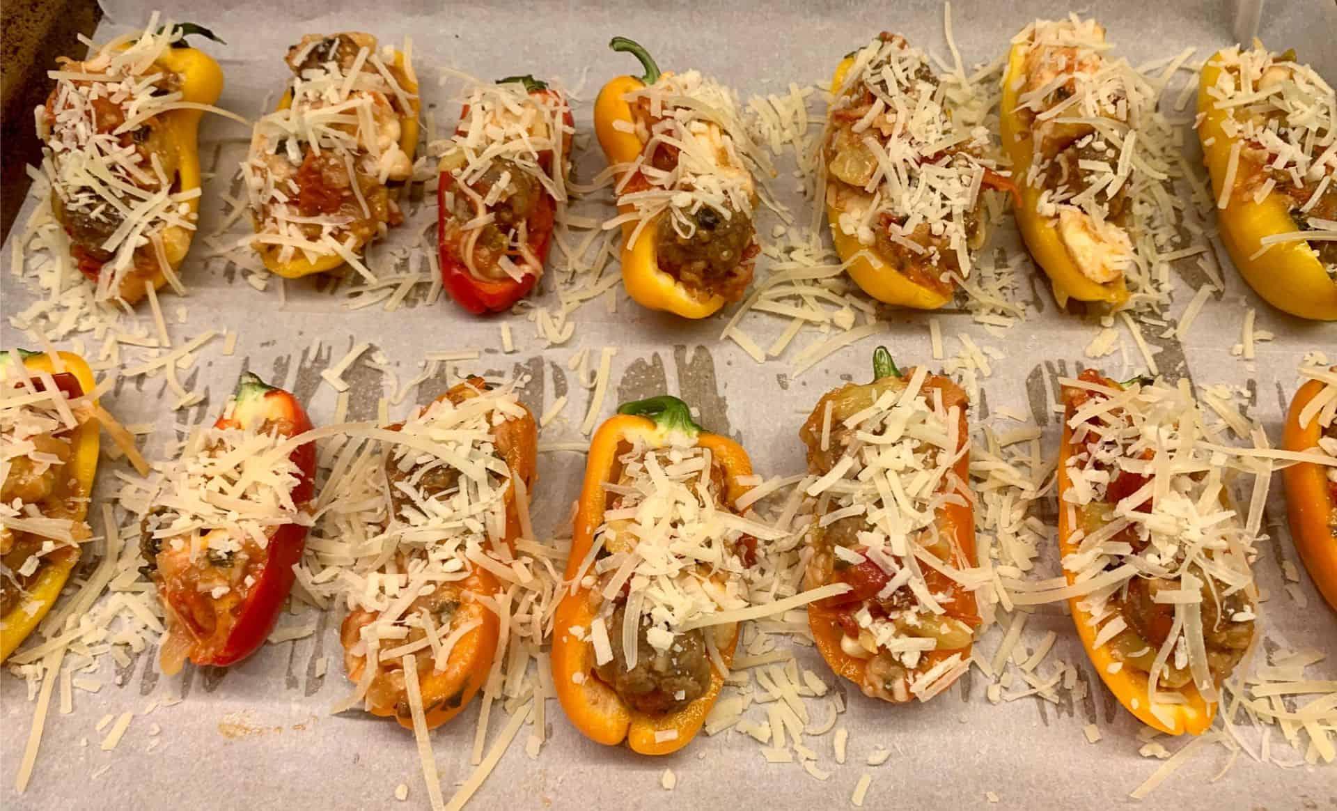 Italian Sausage Stuffed Zucchini Boats 6