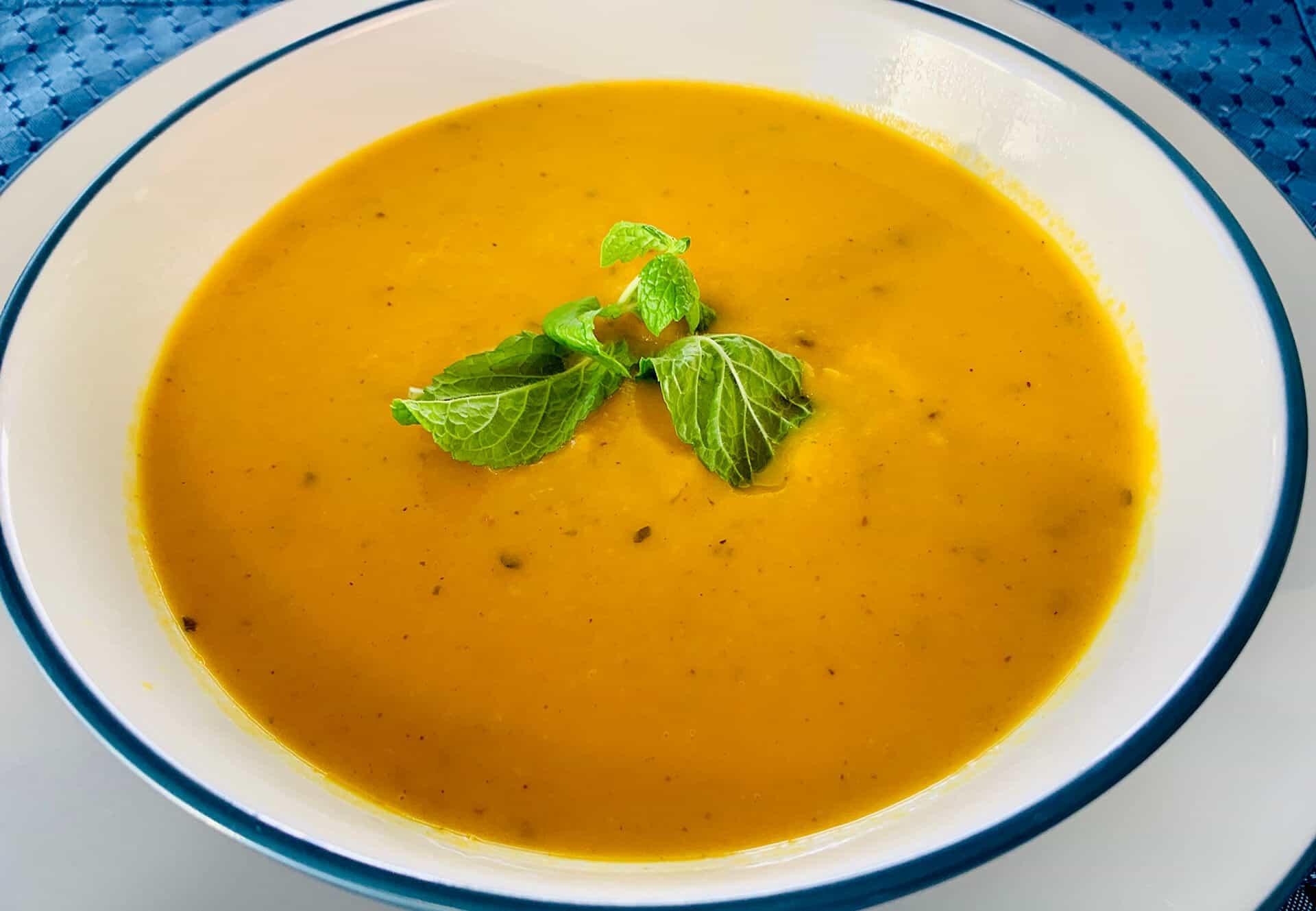 Thai Carrot Ginger Butternut Squash Soup